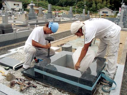 墓石の加工・施工