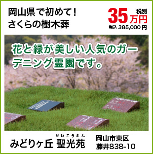 さくらの樹木葬-一人用 みどりヶ丘聖光苑 35万円